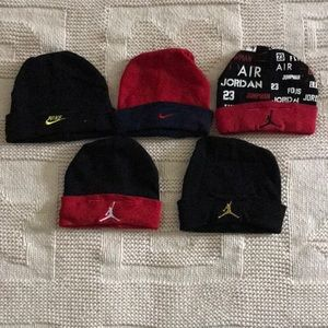 6 Nike/Jordan newborn hats